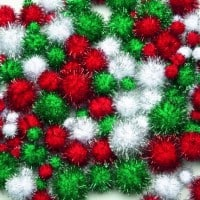 Christmas Glitter Pom Poms