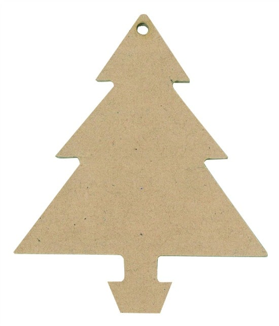 Wooden Christmas Tree Shapes Set Of 12