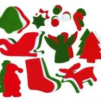 Giant Felt Christmas Pack 200 Pieces