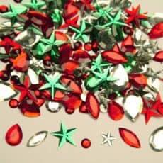 Christmas Rhinestones 45g Pack