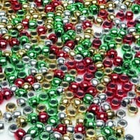 Christmas Pony Beads 1000 Pieces
