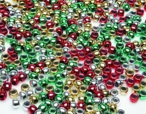 Christmas Pony Beads 1000 Pieces