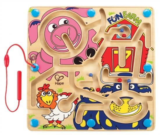 Hape Fun Farm Magnetic Marble Maze Learning 4 Kids