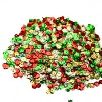 Laser Mix Christmas Sequins 50g