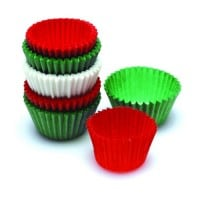 Christmas Mini Cupcake Cases Pack of 80