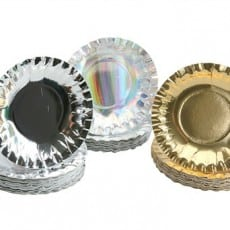Metallic Paper Plates Pack of 60