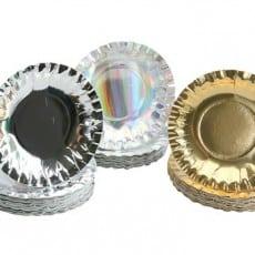 Metallic Paper Plates Pack of 60