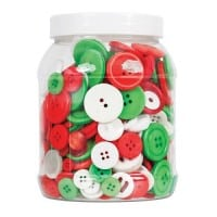 Basic Buttons Christmas 600g