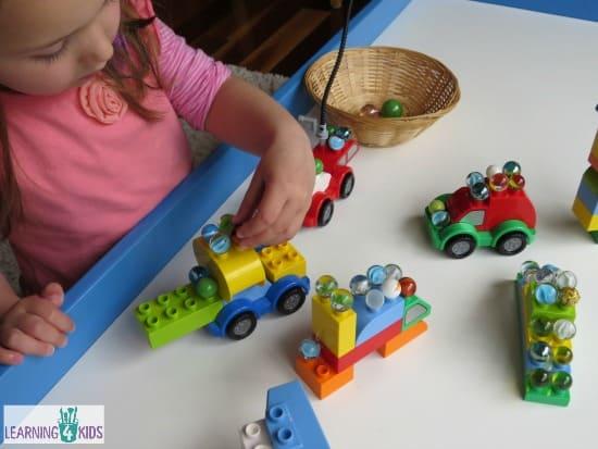 Balancing Marbles on Lego Duplo