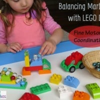 Balancing Marbles with Lego Duplo