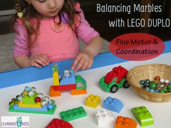 Balancing Marbles With Lego Duplo Learning 4 Kids