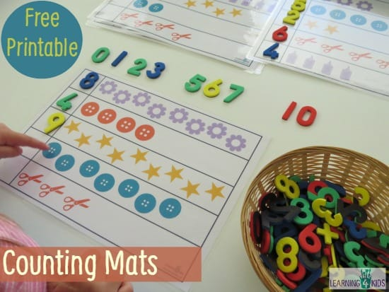 Free Printable Counting Mats - Learning 4 Kids