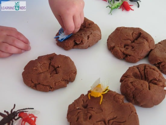 Insect printing in play dough