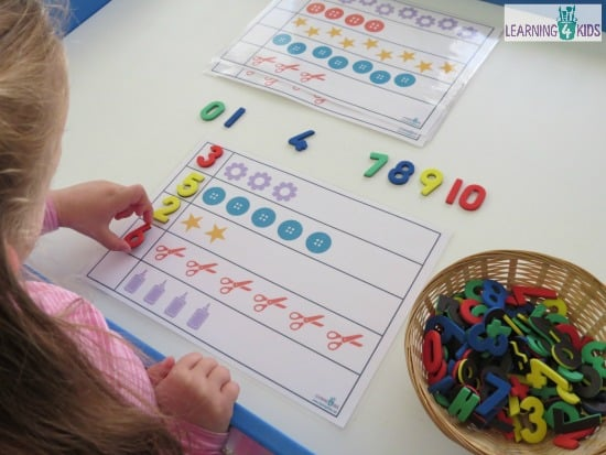 Learning to count - kindergarten counting activities