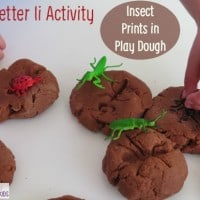 Letter I Activity - Insect Prints in Play Dough