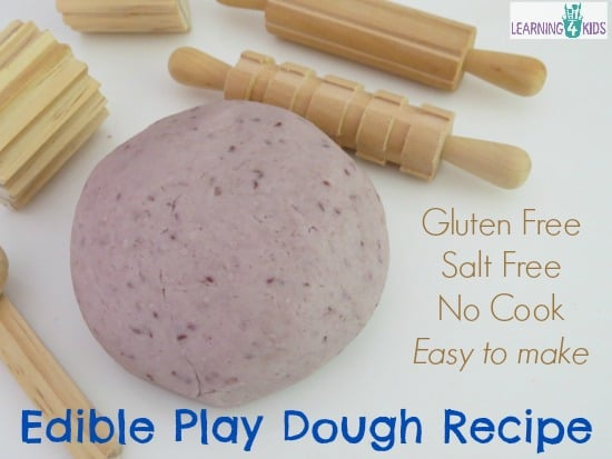 No cook edible play dough recipe for babies