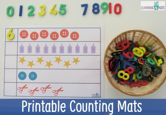 image regarding Printable Mats known as Printable Counting Mats Finding out 4 Youngsters