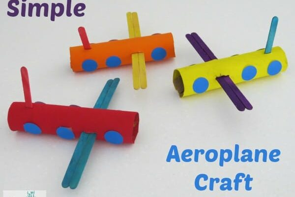 Simple Aeroplane Craft | Learning 4 Kids