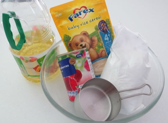 ingredients for make edible play dough