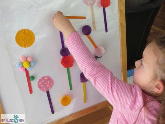 Activity ideas using an easel