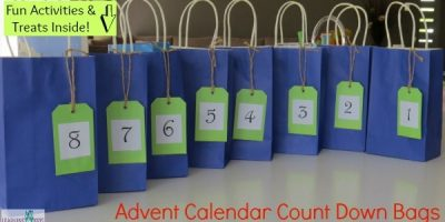 Advent Calendar Count Down Bags
