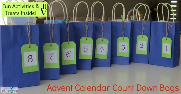 Advent Calendar Count Down Bags