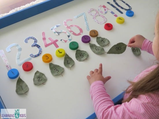 Counting and Number Recognition Activities for preschoolers