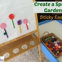 Create a Spring Garden Sticky Easel - Spring Activities