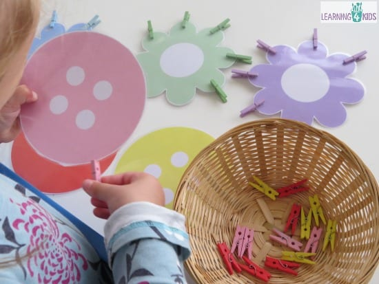Fine Motor Activities for Kids and Toddlers using pegs