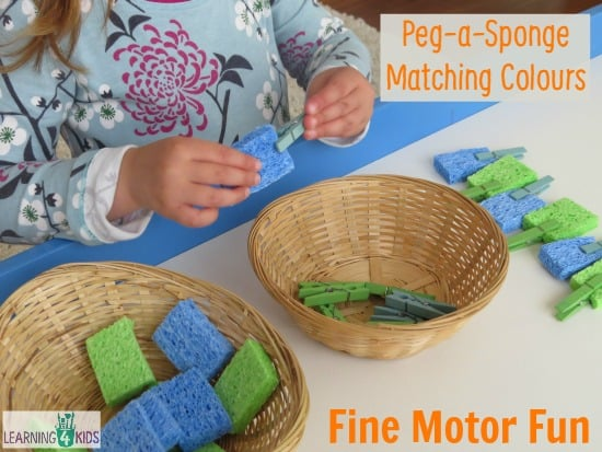 Activity ideas using pegs learning 4 kids for Small motor activities for infants