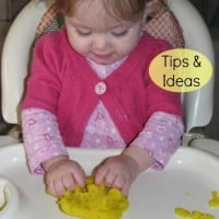 Introducing Play Dough to Babies and Toddlers