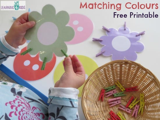 Matching Colours Free Printable Busy Bag