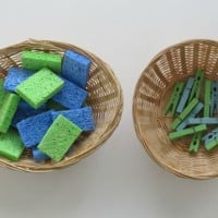 Peg-a-Sponge Colour Match Busy Bag Activity