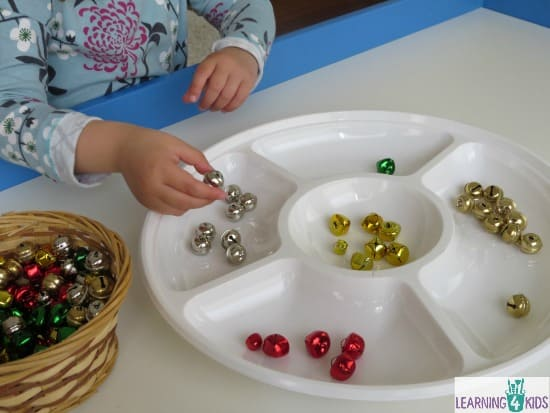 Sorting Colours with Christmas Bells
