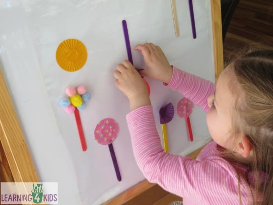 Sticky Easel Spring Garden Activity