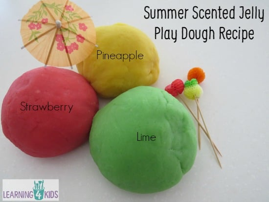 Summer Scented Jelly Play Dough Recipe