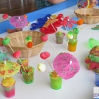 Summer play dough activity for kids and toddlers
