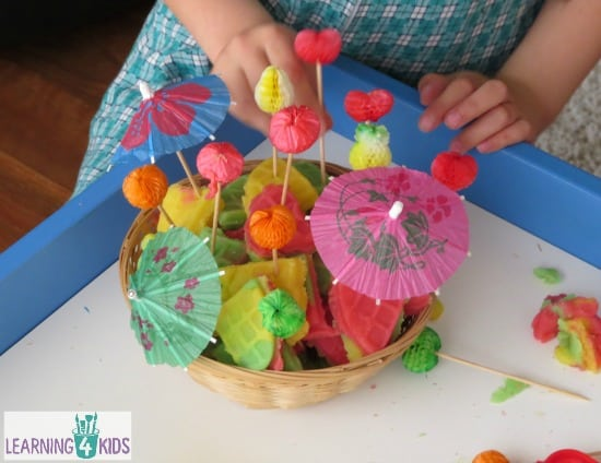 pretend play with play dough