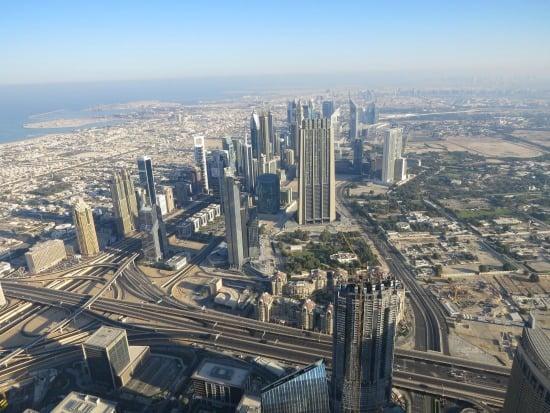 Dubai located in the Arabian Desert