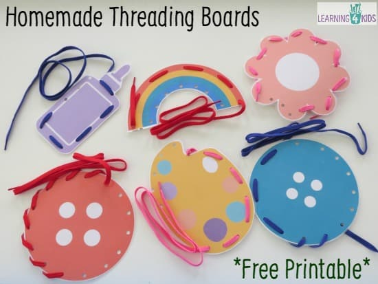 Printable Homemade Threading Boards on Fun Printable Activities 2