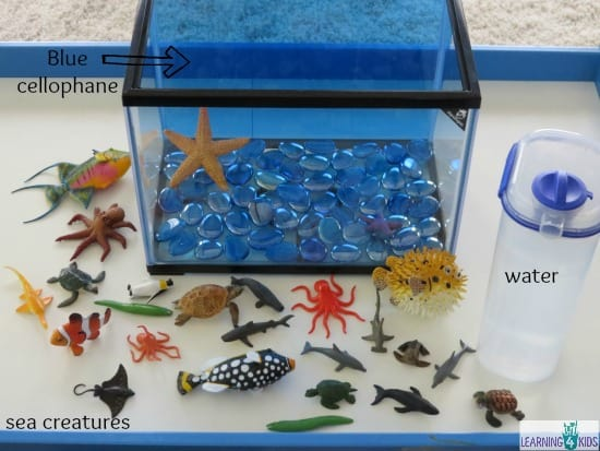 Make your own pretend play Underwater Zoo