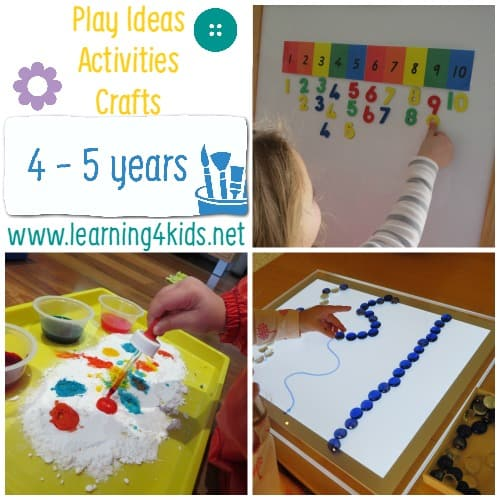 Play Ideas and Activities 4 - 5 Years
