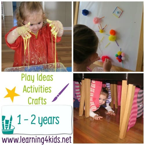 Play ideas activities and crafts play by age learning for Arts and crafts for a 1 year old