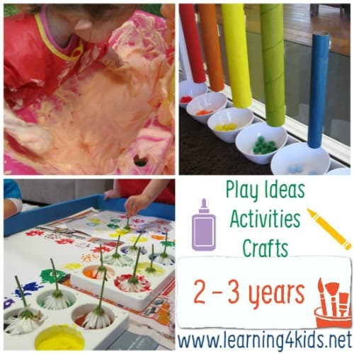 Play Ideas and Activities for 2 - 3 Years