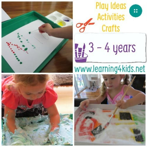 Play Ideas and Activities for 3 - 4 Years
