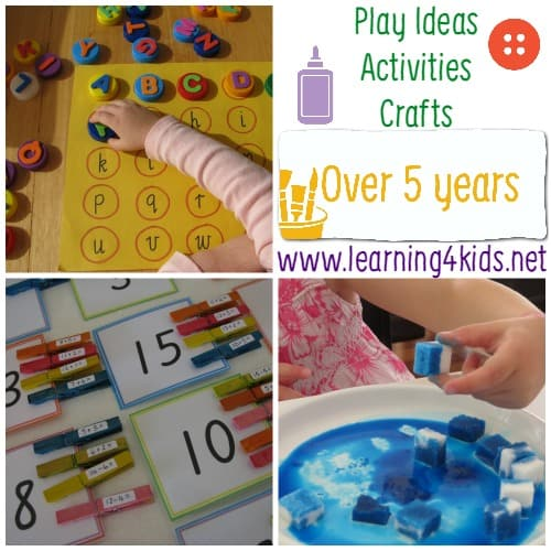 Play Ideas and Activities for over 5 Years