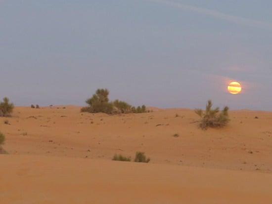 Sunset in the Arabian Desert Dubai