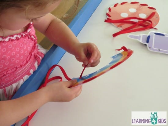 Threading activities for kids