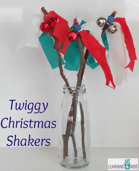 Twiggy Christmas Shakers