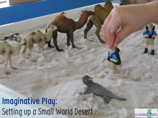 setting up a small world desert